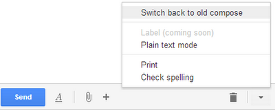 How to Switch Back To Older Compose In Gmail