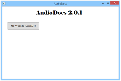 AudioDocs Converts Ms Word Documents to Audio Files