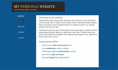 7 html css personal website templates free download for Simple html templates free download