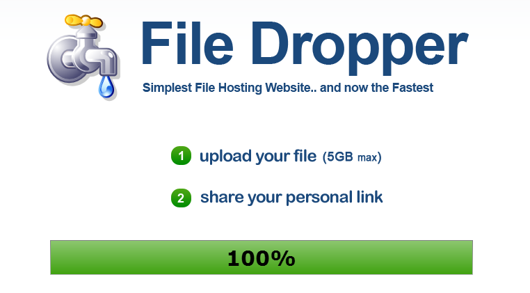 File Sharing Service With 5 GB Upload Limit - File Dropper