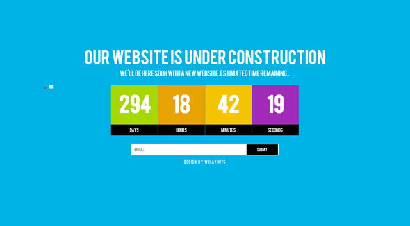 15 Free Under construction HTML Templates 2018