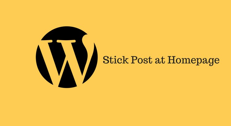 Stick a post to the front page in WordPress