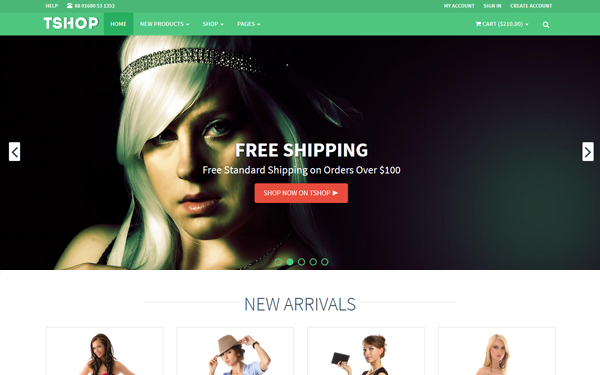 TSHOP - Responsive E-Commerce Template