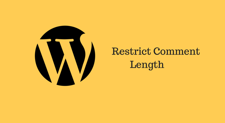 How to set minimum and maximum comment length in WordPress