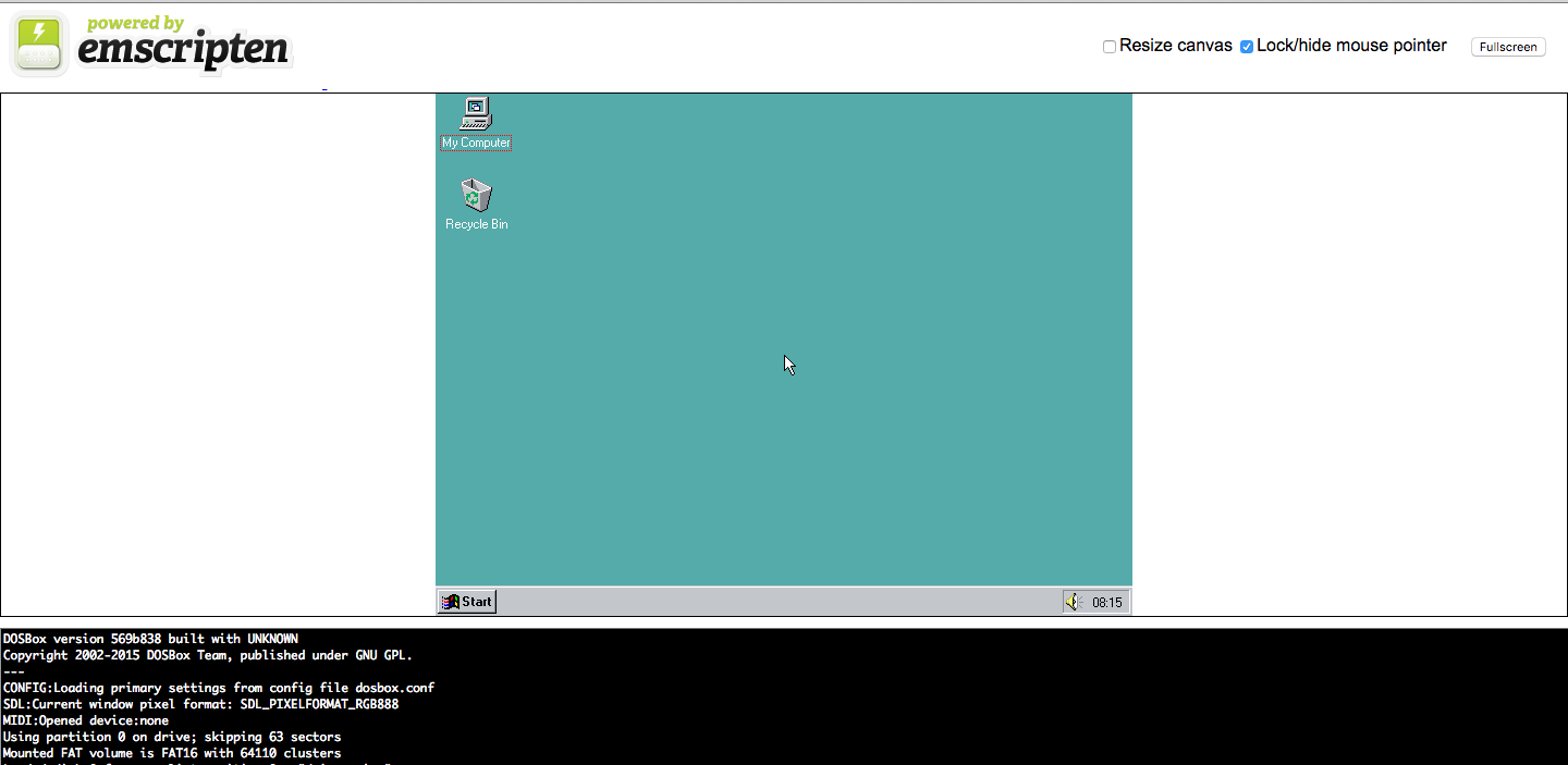 Win 95 browser