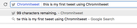 Chromnitweet for Google Chrome