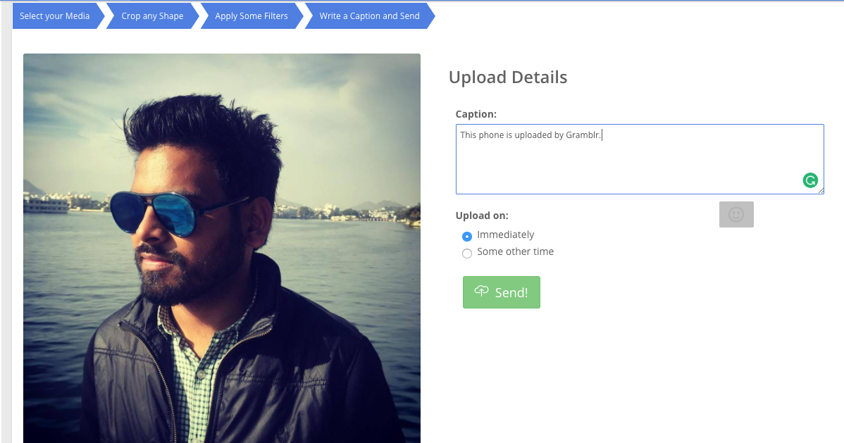 How to upload photos on Instagram from desktop PC