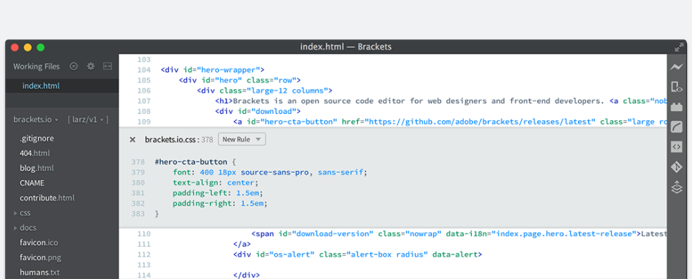 Brackets - Text Editors