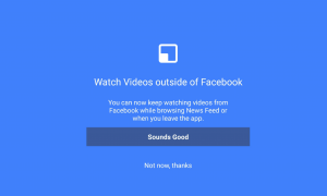 facebook video outside of the app